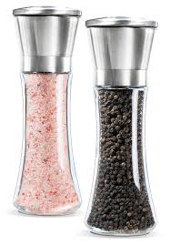premium stainless steel salt and pepper grinder set  salt