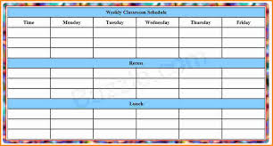 schedule weekly 8 make a weekly schedule authorization letter
