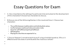 essay questions for exam a how important is the setting of a    essay questions for exam a how important is the setting of a particular time and place