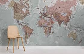 classic world map wallpaper murals
