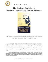 sandia area scholarship essay contest criteria liberty online the students for liberty bastiat s legacy essay contest winners