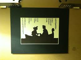 Small Picture Disney Ariel and Eric Silhouette