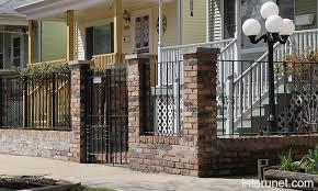 front yard brick fence picture interunet