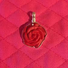 medium red resin rose