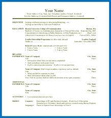 Sample Internship Resume Template – Gocollab