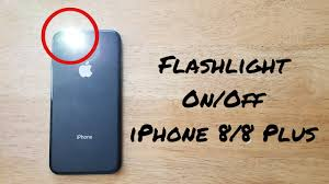 How To Turn Flashlight Onoff Iphone 88 Plus