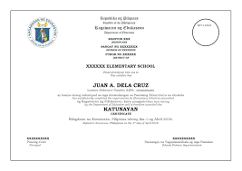 Elementary Certificate Template Sample Of Certificate Of Grades And