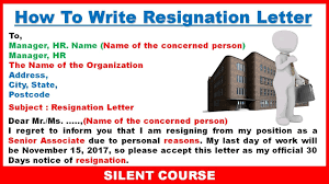 How To Write Resignation Letter From Job In English - YouTube