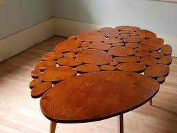 unique wooden furniture. Furniture:Eco Friendly Exotic Unique Wooden Coffee Table Ideas With Round Shape Design Modern Furniture