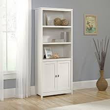 bookcases with doors on bottom. Amazon.com: Sauder 417593 Cottage Road Library With Doors, Soft White Finish: Kitchen \u0026 Dining Bookcases Doors On Bottom E