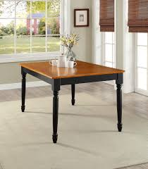 better homes and gardens autumn lane farmhouse dining table black oak room wood sets small chairs grey solid light kitchen cream round casual furniture