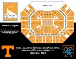 Pbr Thompson Boling Arena Seating Chart 56 Rare Thompson Boling Arena Seating Capacity