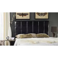black leather headboard. Unique Headboard Safavieh Quincy Black Leather Box Quilted Upholstered Headboard King To T