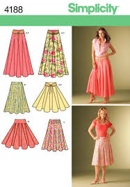 Simplicity Skirt Patterns Best Amazon Simplicity Pattern 48 Misses Skirts With Length