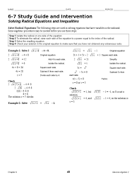 solving radical equations worksheet with answers the best 183691