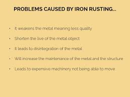 problems caused by iron rusting