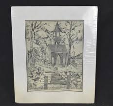 Etching Print, Artist Proof, Signed Leona Stein   EJ's Auction & Consignment