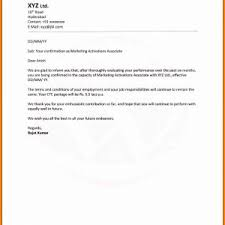 Sample Letter Confirming End Of Employment Archives