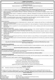 Finance Resume Sample Banking Resume Format Naukri
