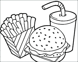 Coloring Pages Of Food Coloring Page Food Healthy Food Coloring Page