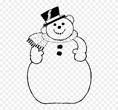 frosty the snowman clipart black and white. Interesting White The Big Of Frosty Snowman Coloring For Kids  Black And White Clip  Art Clipart O