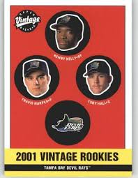 Amazon.com: 2001 Upper Deck Vintage #344 Travis Harper / Kenny Kelley /  Toby Hall - Tampa Bay Devil Rays (Rookie / Prospect) (Baseball Cards):  Collectibles & Fine Art