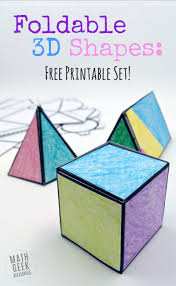this easy to use printable set of foldable 3d shapes can be used for all sorts