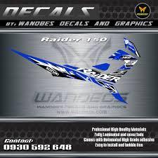 Decals Design For Raider 150 Raider 150 Decals Reborn Blue