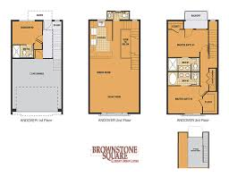 adorable brownstone row house floor plans 3 d plan
