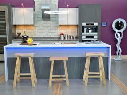 Modern Purple Kitchens Modern White And Purple Acrylic Kitchen