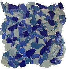 11 61 x11 61 bahama surf blue glass mosaic pool backsplash backsplash tile