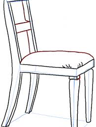 chair drawing easy. Drawing Of A Chair How To Draw In The Correct Perspective With Easy Steps