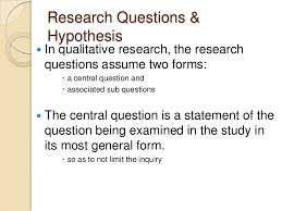 writing thesis research questions Free Essays and Papers