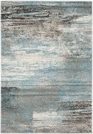 safavieh grey and light blue rugs for traditional dining room floor decoration