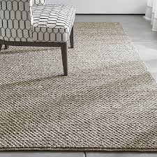 Crate and Barrel Exclusive. Yvonne Grey Wool-Blend Rug