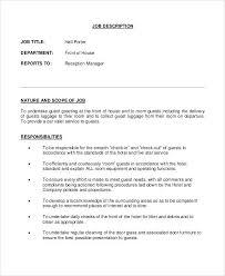 Hotel Porter Sample Resume Podarki Co