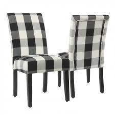 homepop parsons dining chair black plaid set of 2 homepop