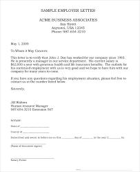 Employment Verification Letter Legalforms Employment Verification