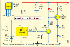 infrared receiver circuit diagram the wiring diagram ir music transmitter and reciever circuit diagram circuit diagram