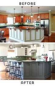 painting kitchen cabinets before after before and after photos of a kitchen that had its cabinets