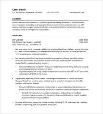 Executive Resume Templates Free