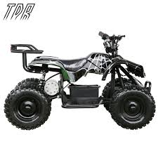 tdr children 24v 500w black electric ride on mini quad atv black
