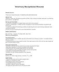 Receptionist Resume Examples Custom Curriculum Vitae Receptionist Position Resume Sample Skills Samples