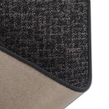 rug runner grey fleece backing