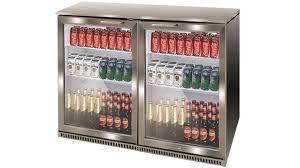airflo 210l double door bar cooler stainless steel
