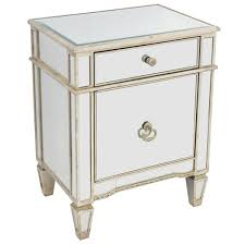 Image Vintage Tatiana Tafur Antique Styled Mirrored Bedside Cabinet Mirrored Furniture
