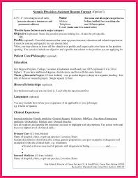 Physician Assistant Resume physician assistant resume bio letter format 38