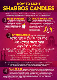 Light Of God In Hebrew This Card Explains How To Light Shabbos Candles Includes