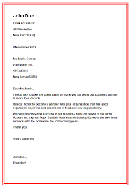 Application letter example business