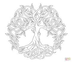 Small Picture Celtic Tree of Life coloring page Free Printable Coloring Pages